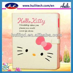 New arrival design for hello kitty ipad mini leather case
