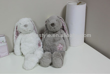 2013 Cute Plush Colorful Long Ear Rabbit With Flower