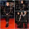 veneza bo2203 film festival quente estilo preto contas laço manga longa vestidos do tapete vermelho vestido de noite