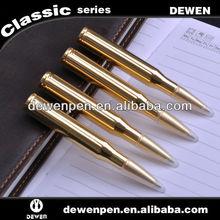 Novelty gloden or silver color low price bullet pen gun