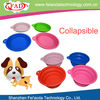 13cm Colorful Novelty Fancy Silicone Pet Bowl With Folding Design