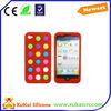 color dot design silicone phone case maker for girl