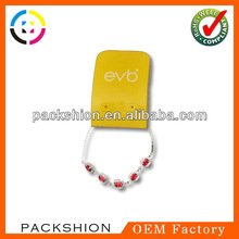 .4mm thick plastic card packaging jewel