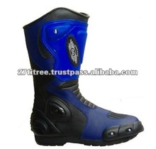 Blue Motorbike Racing Boots