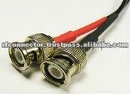 Mini BNC male microdot connector