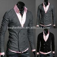 Men's Knitwear Cardigan Fake Pocket latest coats design for men