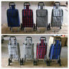 Folding travel trolley with removable bag and detachable wheels