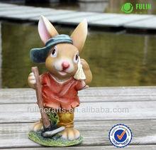 Popular Resin Garden Ornamental Rabbit Sculpture