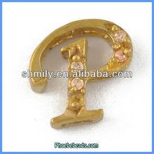 Wholesale Custom Latest Rhinestone Pendant Alphabets Designs PB-P5398