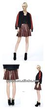 2013 new design Genuine leather ladies skirt