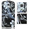 For Samsung Galaxy S4 mini i9190 flip leather stand case with printing butterfly flower design