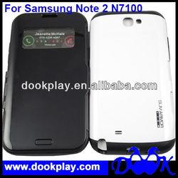SPIGEN SGP Slim Armor S View Flip Cover leather case for Samsung Galaxy Note2 N7100