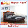 家具の豪華なスタイル佛山黄金の睡眠の快適さベッド( h2817)