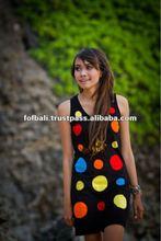 New design fashion beach dress, Bali Wonderful Lovely Colorful Polkadot Dress