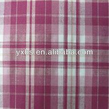 95% Cotton 5% Spandex Check Shirt Yarn-dyed Stretch Fabric
