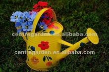 Colorful metal flower vases for wedding decorations
