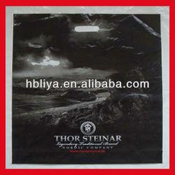 Custom made heat seal shopping handle bag shop plastic bag