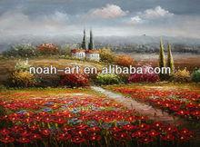 Beautiful Tuscany landscape oil painting