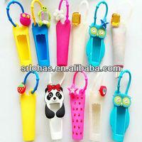 Cute animal 3d bbw tube silicone lip gloss holder