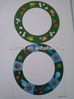 Custom shape card making material film