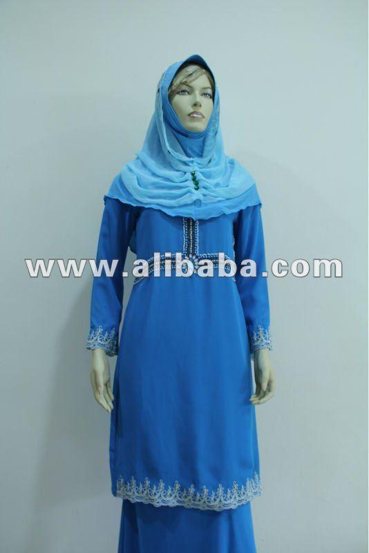 Fashion Islamic baju kurung plus size ladies women dress