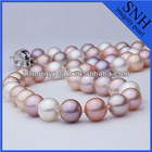 9-10 mm AAA pefect round fresh water pearl necklace