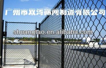 black plastic chain link fence