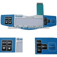 Custom Tactile Membrane Keyboard With LCD Display