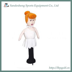 Cute ladies knitted golf head cover
