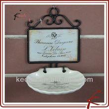 white glaze ceramic shower wall soap dishes