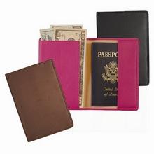 Fashion simple model genuine leather passport case