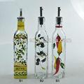 claro o decorativos cuadrados de aceite de oliva botella de vidrio