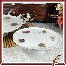 Ceramic pedestal cake stand for wedding cakes