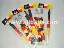 football fan set (hawaii leis , air stick ,face paint , whistle