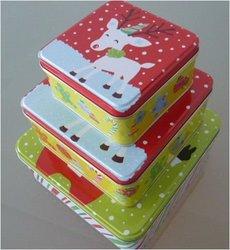 small metal tin boxes