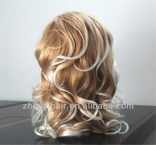 Two tone Synthetic lace front wig Japanese kanekalon fiber hair