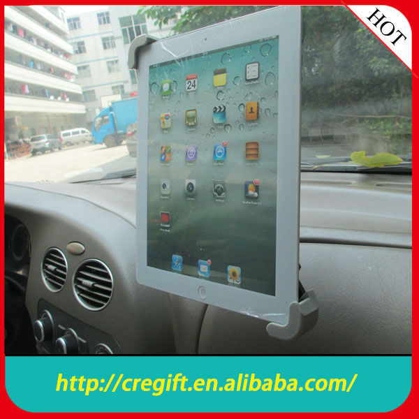 big suction cup there-piece suit car holder for 9-11 inch tablet
