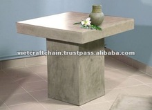 Light Cement Square 150cm Table