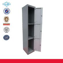 fahionable 3 door vertical knock down install gym/school/office steel /metal locker