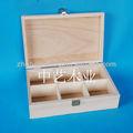 real natural barnizado de madera cajas con tapas para té