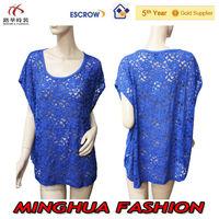 GuangDong Factory OEM Summer 2014 new best selling women lace tops wear