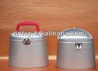 Tintop tin box / coin bank tin box with cute lock and handle