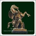 cheval et le soldat sculpture en bronze