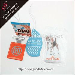 New Branded Hanging Paper Air Freshener/custom car freshener for promotion