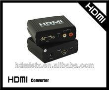 Black Support CEC VGA +R/L TO HDMI Converter Full HD&1080P