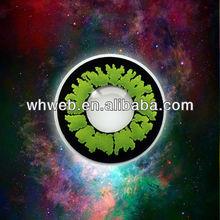 HEMA natural look soft green contact lens/beautiful design for dark eyes/Q088