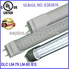 22w led tube lights clear/frosted cover 5 years warranty csa approved