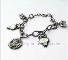 Wholesale vintage rhinestone ball, head pendant chain bracelet metal link bracelets ,brand bracelet