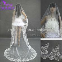 HY-001 New Arrival OEM zhenzhen Lace Bridal Lace Wedding Veil