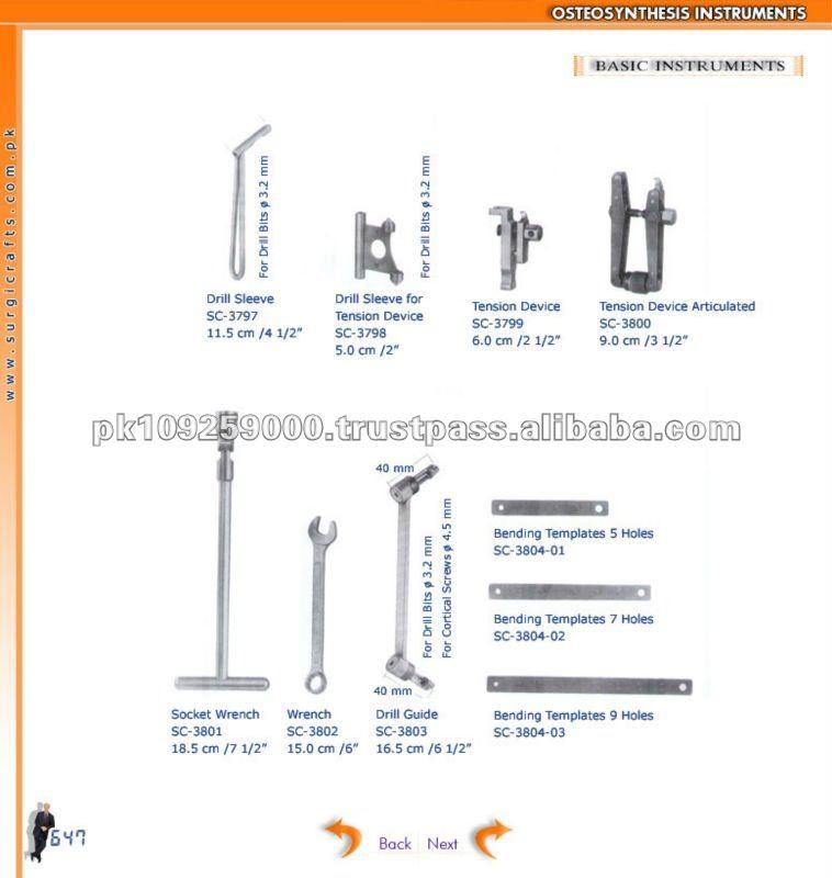 Instrumentos básicos, instrumentos osteosintesis